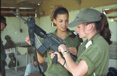 Nowadays women take active rolls in all parts of the idf